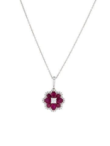 Gregg Ruth 18K Ruby & Diamond Pendant Necklace