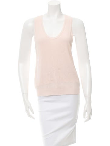 girl. by Band of Outsiders Scoop Neck Open Knit Top None