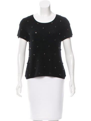 girl. by Band of Outsiders Embellished Short Sleeve Sweater None