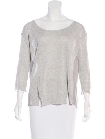 girl. by Band of Outsiders Silk-Paneled Sweater