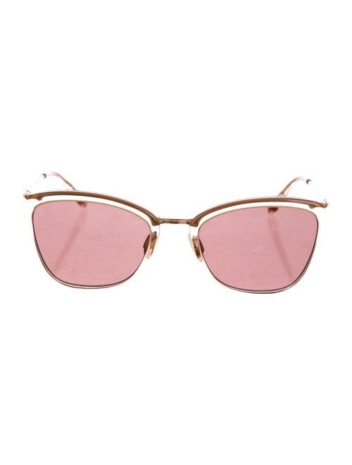 Garrett Leight Louella Tinted Sunglasses Rose
