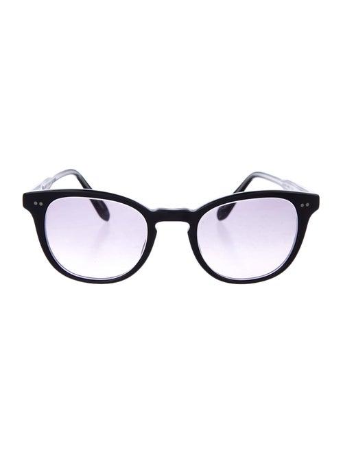 Garrett Leight Tinted Round Sunglasses Black