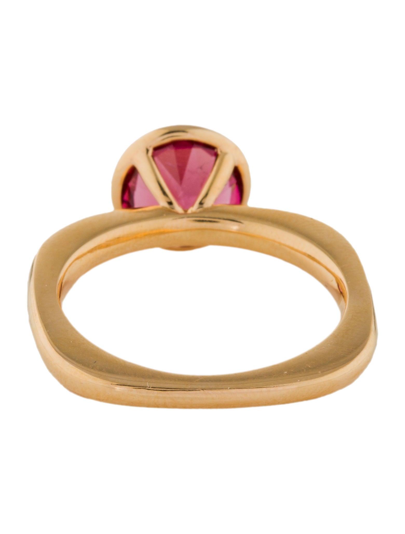 Goshwara Gossip Round Rubellite Stackable Ring - 6.5 z1y3TFT6z7