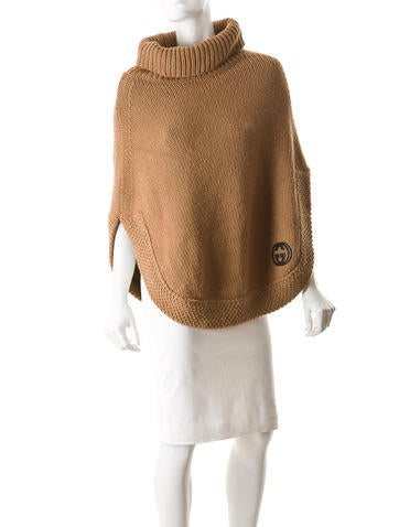Knit Camel's Wool Poncho