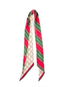 Gucci Silk Scarf w/ Scarf Loop