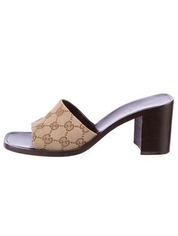 GG Canvas Sandals