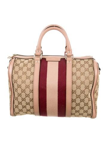 GG Web Boston Bag