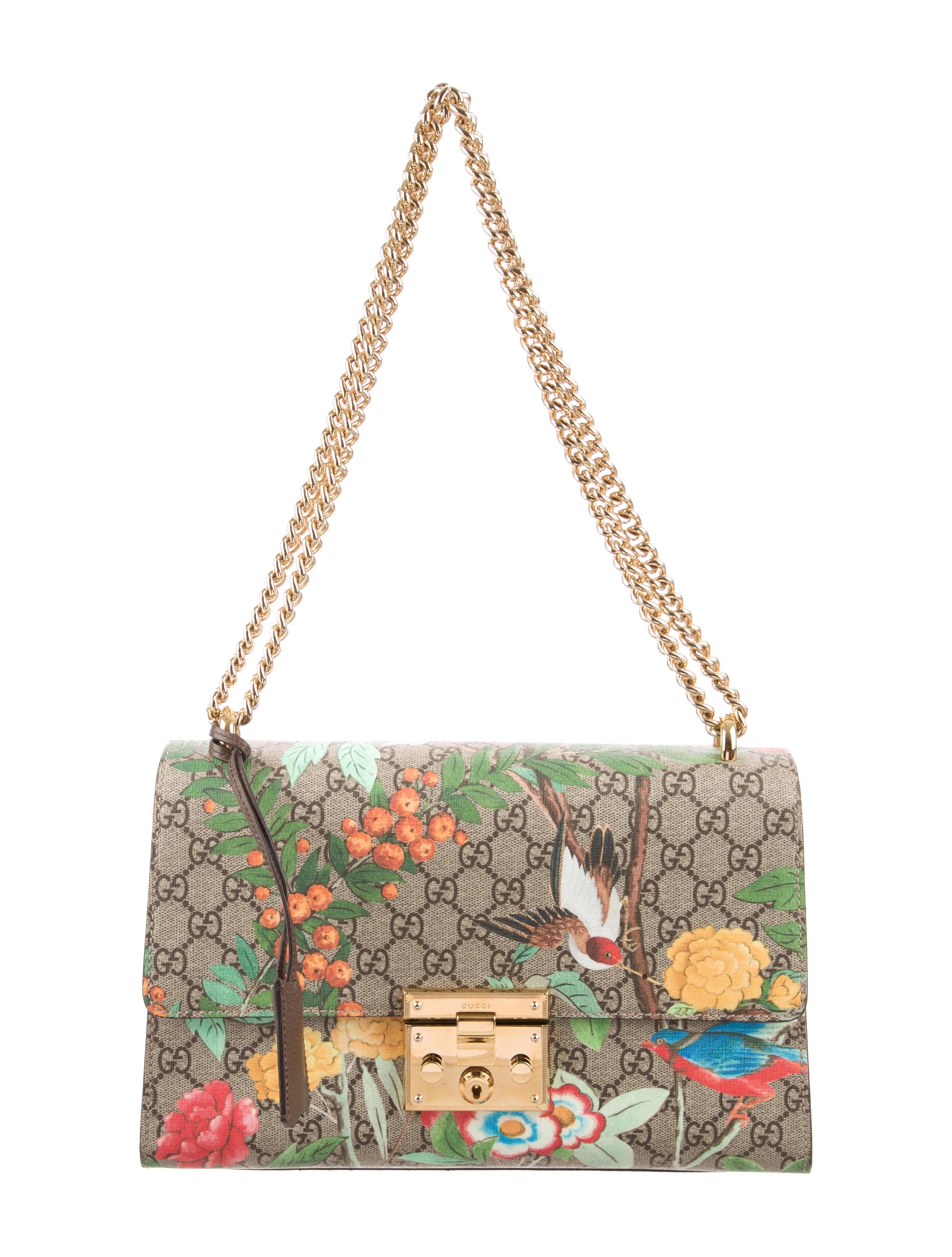 a2775297a3e Gucci GG Supreme Tian Padlock Shoulder Bag - Handbags - GUC100699 ...