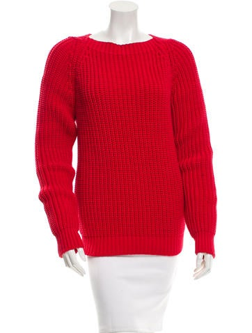 Gucci Long Sleeve Rib Knit Sweater None