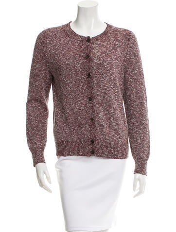 Gucci Marled Crew Neck Cardigan None