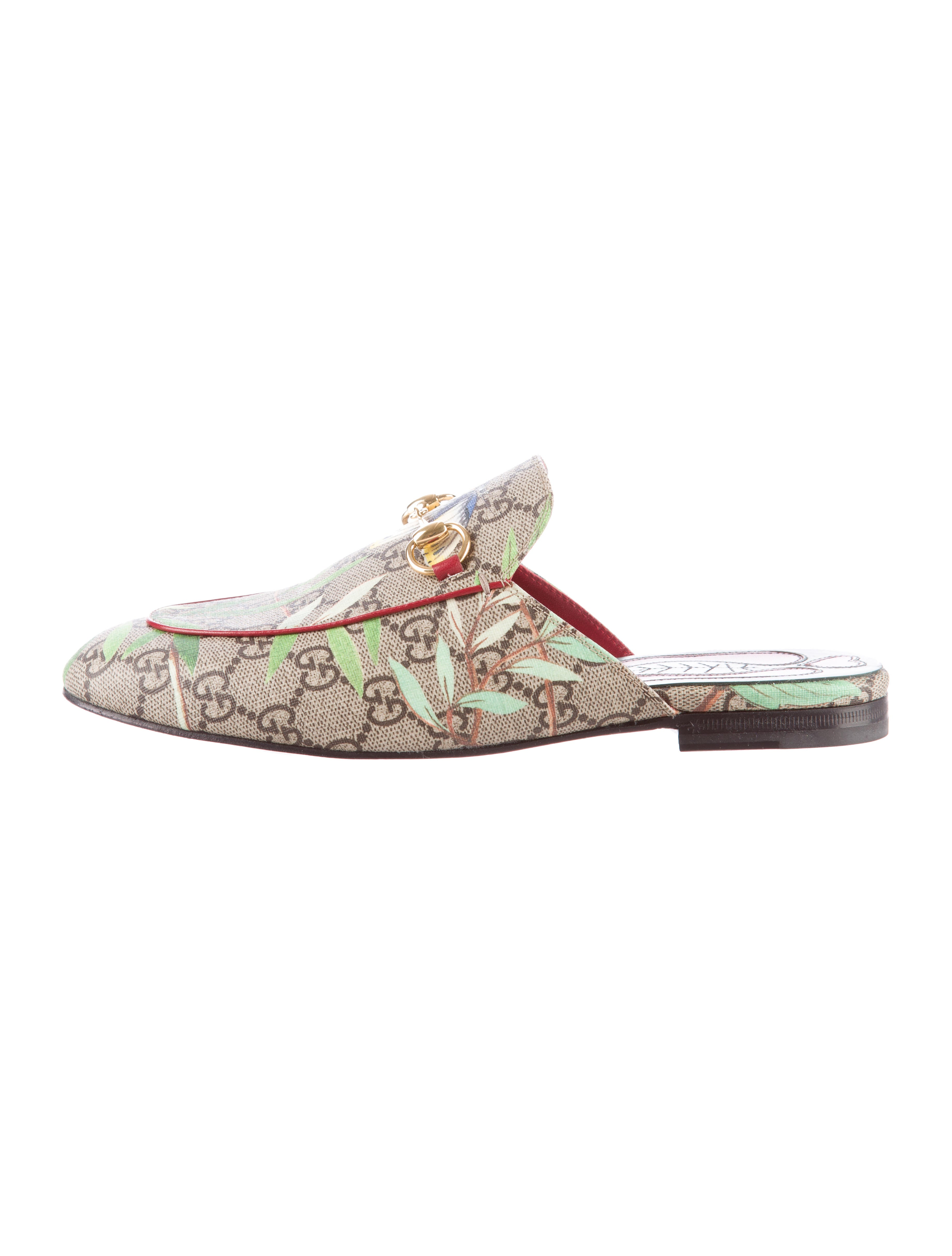 Gucci GG Supreme Tian Princetown Mules w Tags Shoes  : GUC1029871enlarged from www.therealreal.com size 3685 x 4861 jpeg 484kB