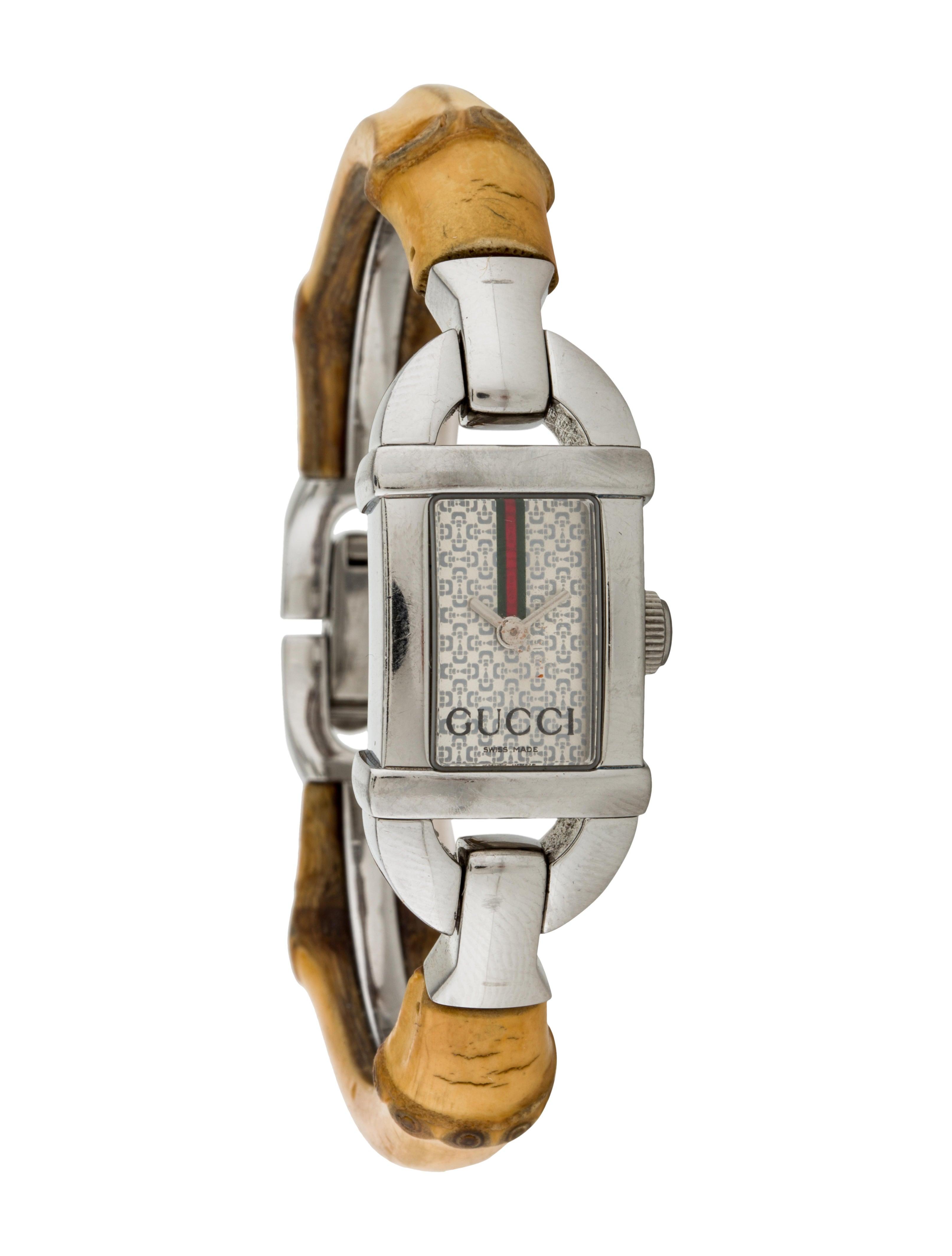 a01166e482f Gucci 6800L Bamboo Watch - Bracelet - GUC103038