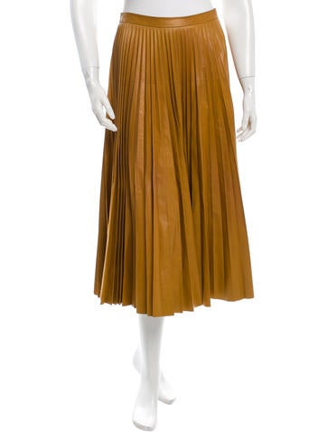 Fall 2015 Pleated Leather Skirt