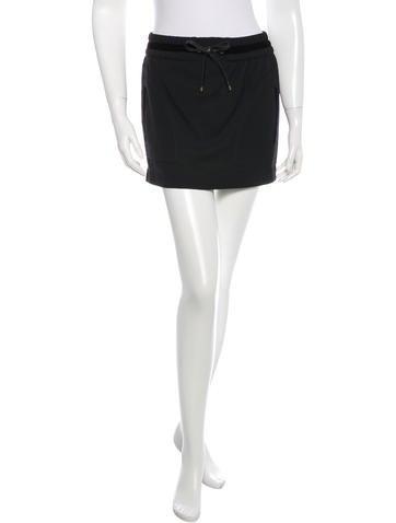 Gucci Velvet-Trimmed Mini Skirt