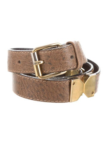 Gucci Leather Logo Waist Belt