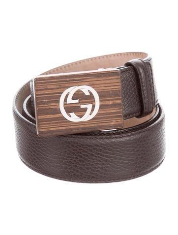 Leather GG Buckle Belt