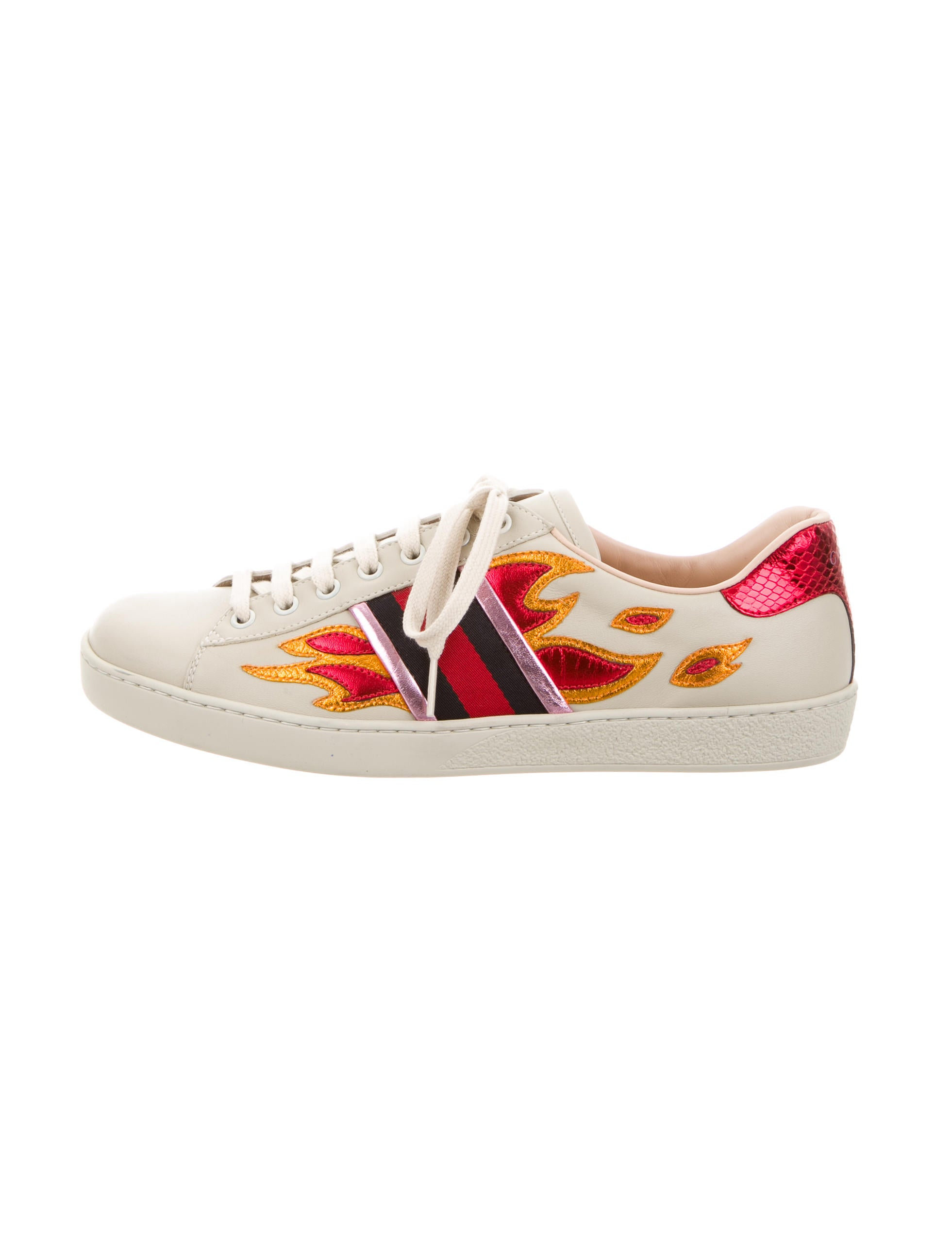 3c8d4c5df Gucci 2016 Ace Flame Low-Top Sneakers - Shoes - GUC104401 | The RealReal