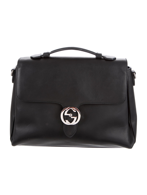 e2afc48604e27b Gucci Interlocking G Top Handle Bag - Handbags - GUC105172 | The RealReal