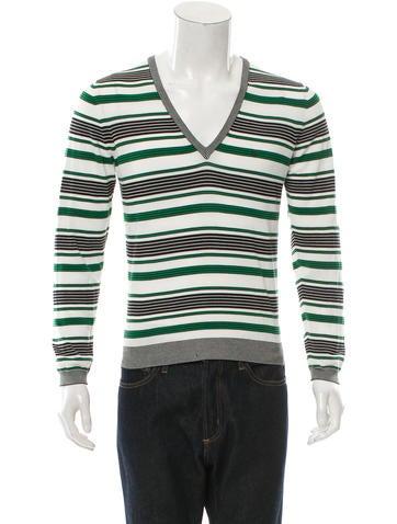 Gucci Striped V-Neck Sweater None