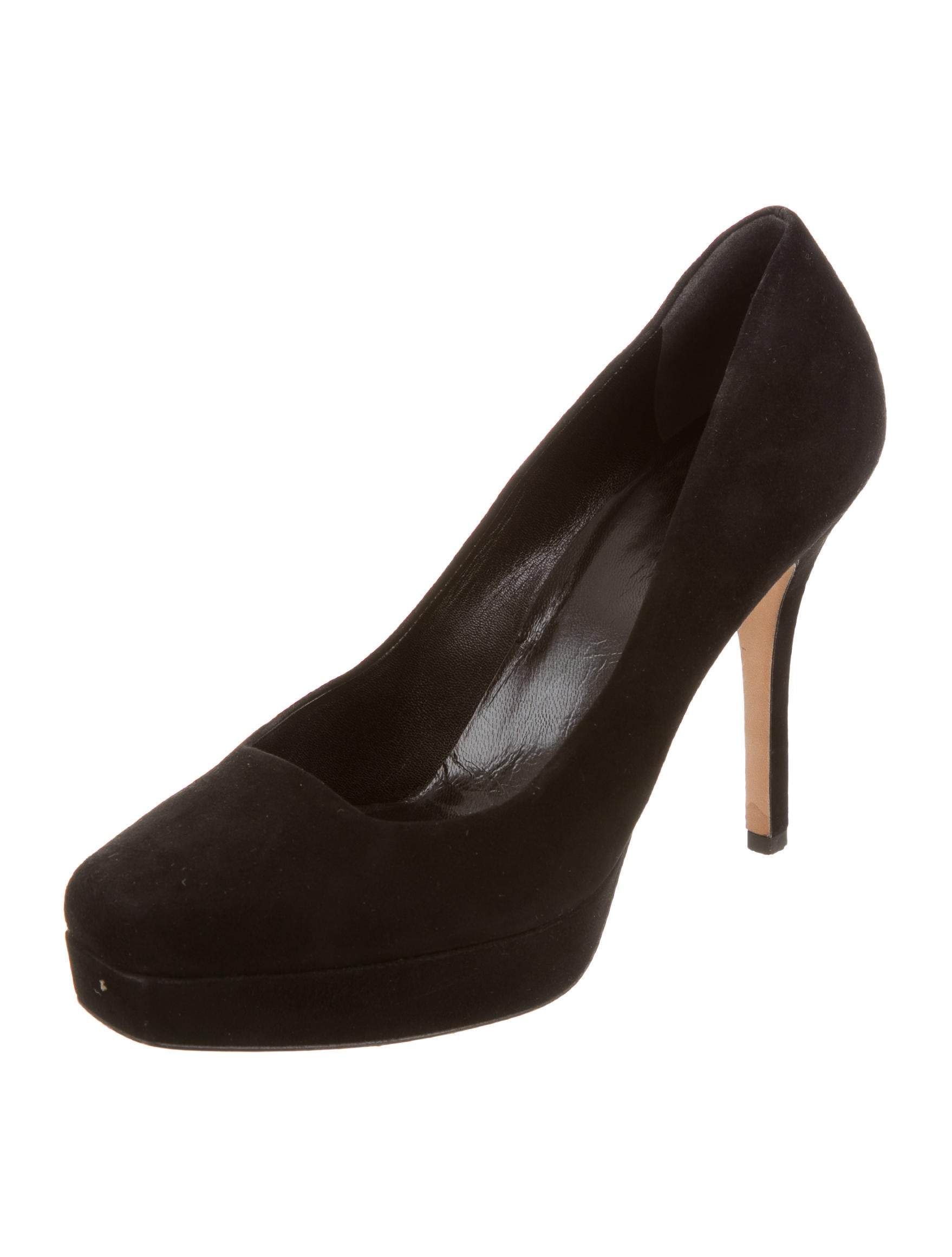 gucci suede platform pumps shoes guc106489 the realreal