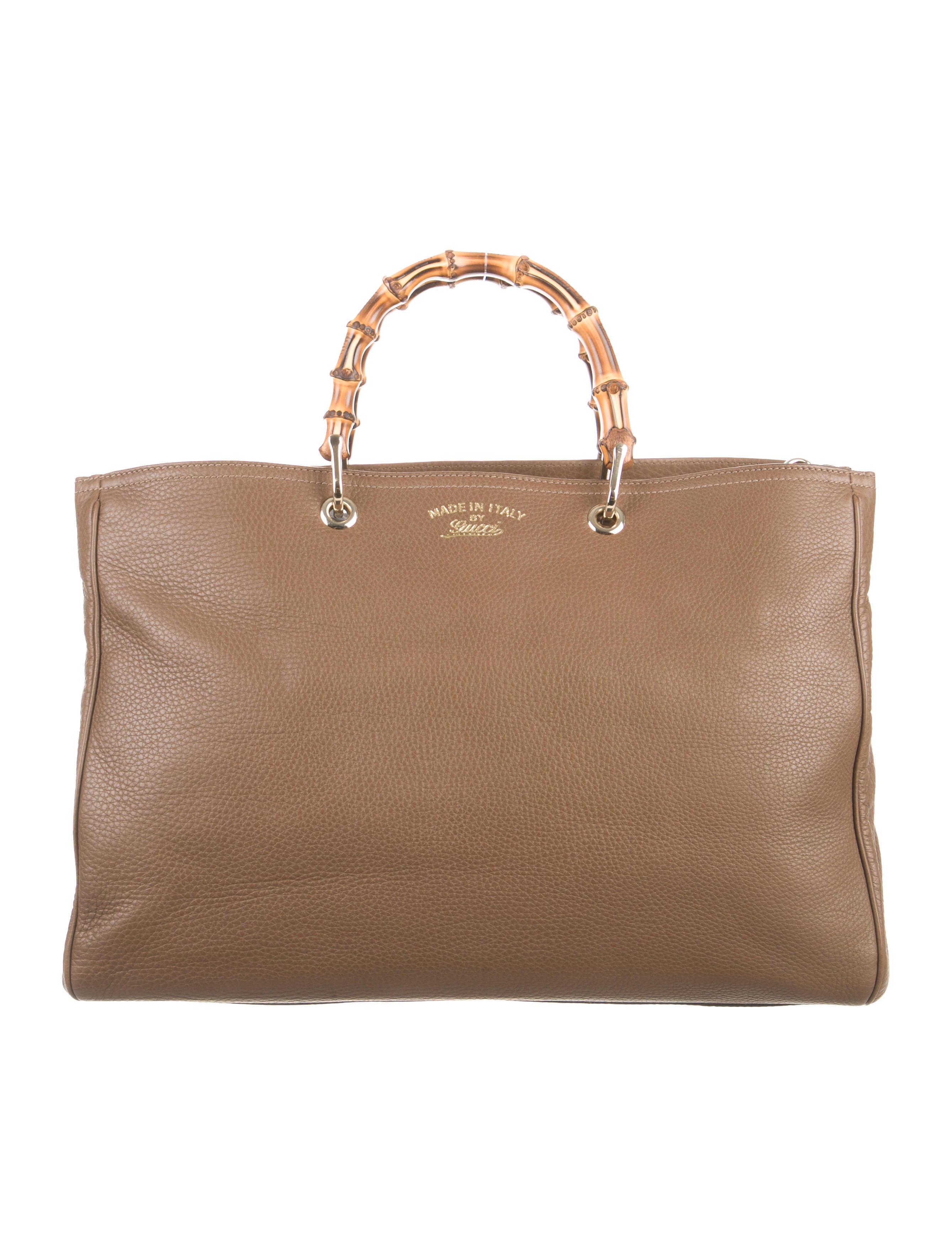 gucci large bamboo shopper tote handbags guc106710 the realreal. Black Bedroom Furniture Sets. Home Design Ideas