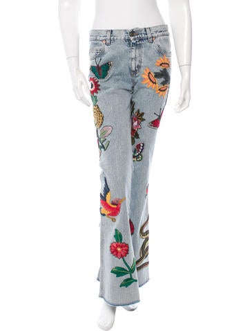 2016 Appliquéd Flared Jeans