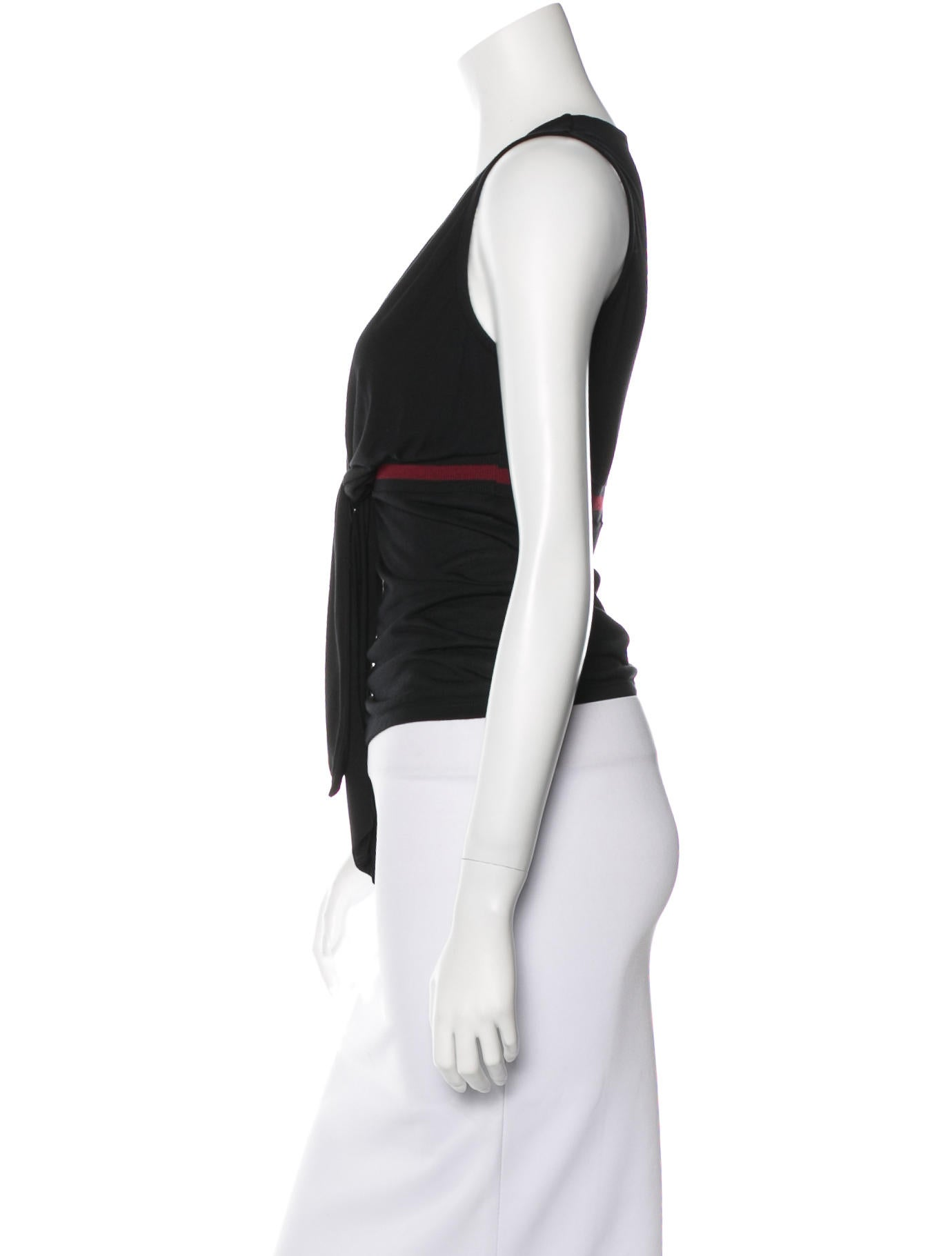 Gucci Sleeveless Tie Top - Clothing - GUC107090 | The RealReal