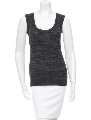 Gucci Sleeveless Cashmere Blend Top None