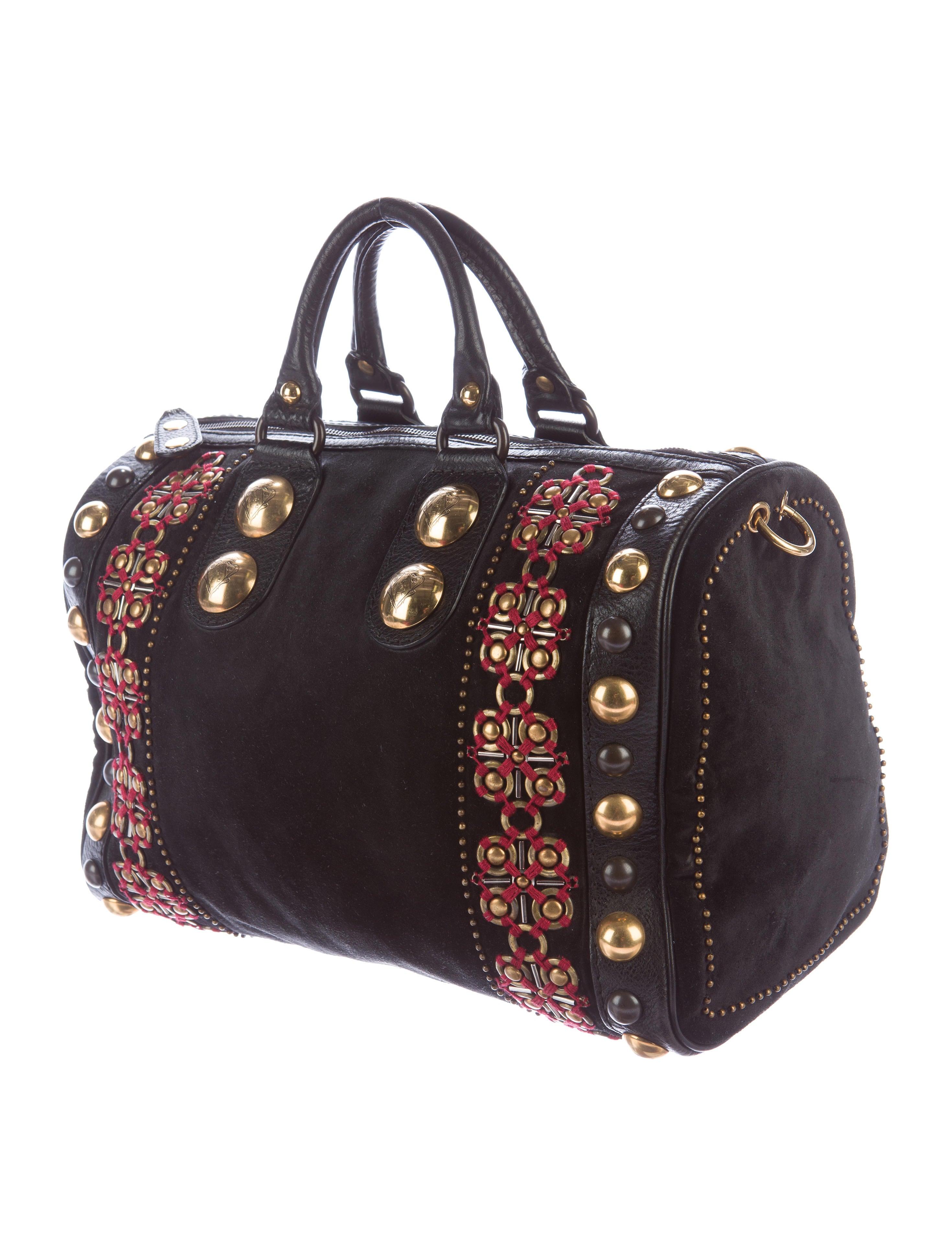 Boston Bag Patchwork Tutorial: Gucci Large Suede Babouska Boston Bag