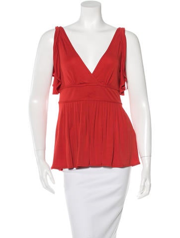 Gucci Ruffle-Trimmed Sleeveless Top None
