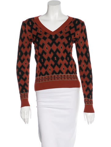 Gucci Wool Patterned Top None