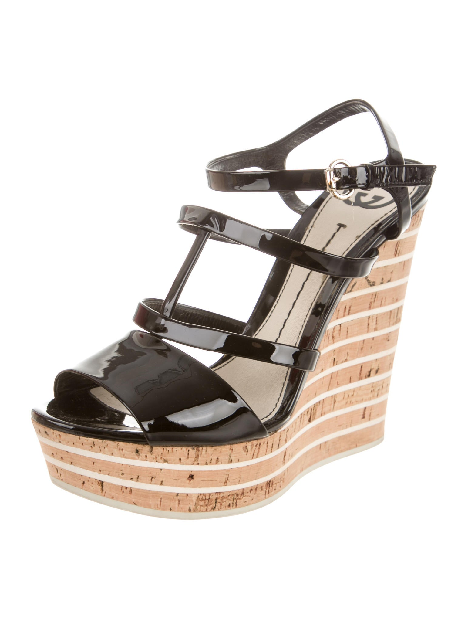 gucci multistrap wedge sandals shoes guc109058 the