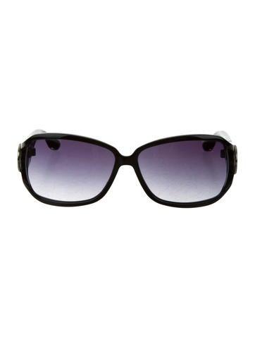 Gucci Logo-Embellished Oversize Sunglasses