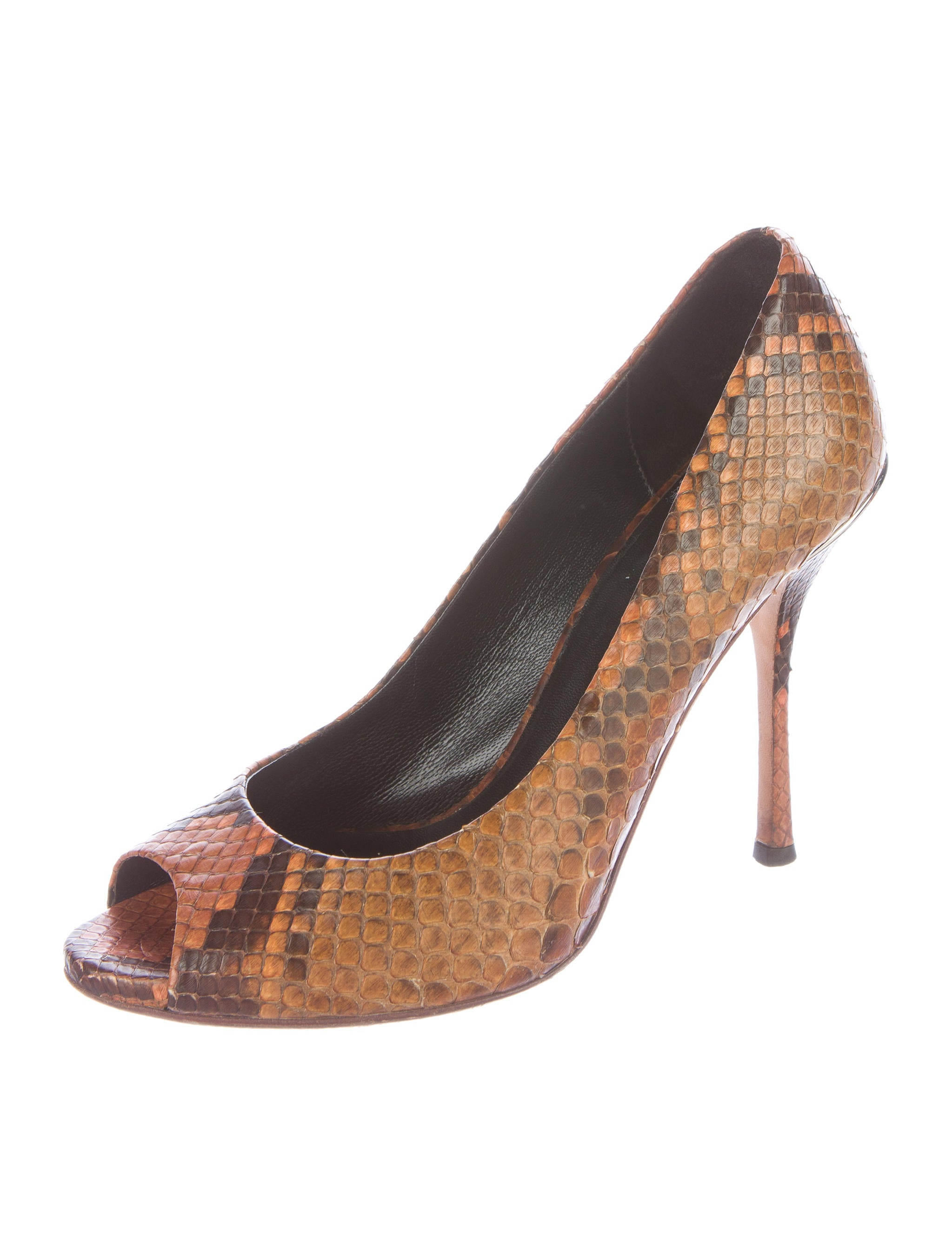 Shop snakeskin pump shoes at Neiman Marcus, where you will find free shipping on the latest in fashion from top designers.
