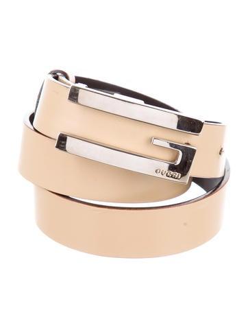 Leather Logo-Embellished Belt