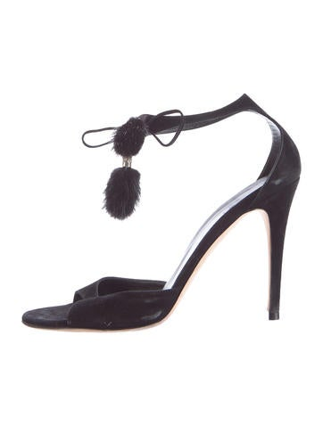 Gucci Mink-Tasseled Suede Sandals None