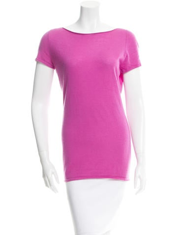 Gucci Cashmere Short Sleeve Top None