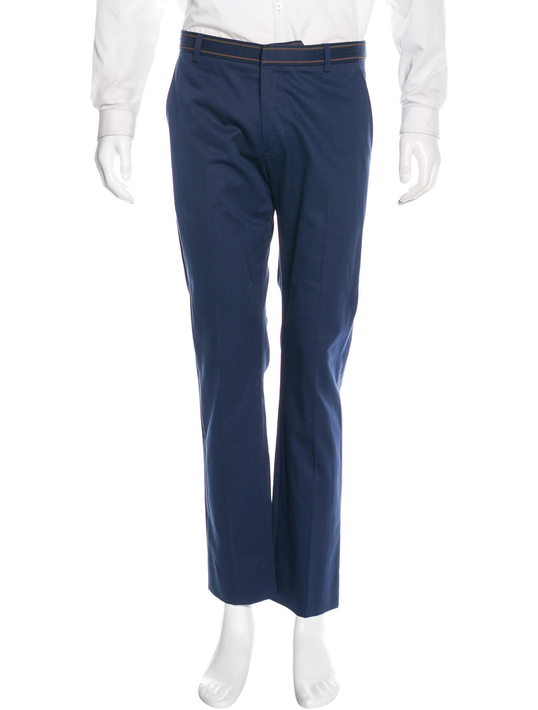 twill straight-leg trousers - Blue Gucci B2jyDew