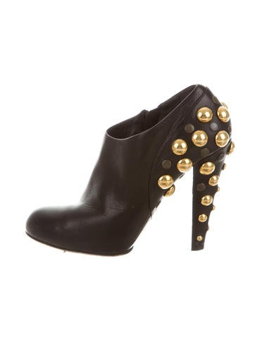 Babouska Stud-Embellished Booties