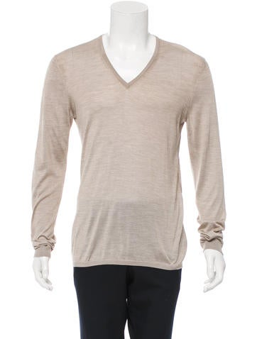 Gucci Silk V-Neck Sweater None
