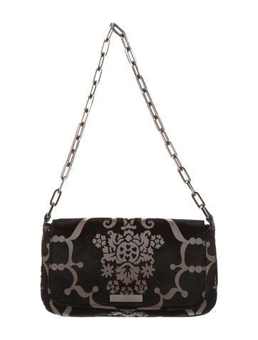 Velvet Damask Chain Bag