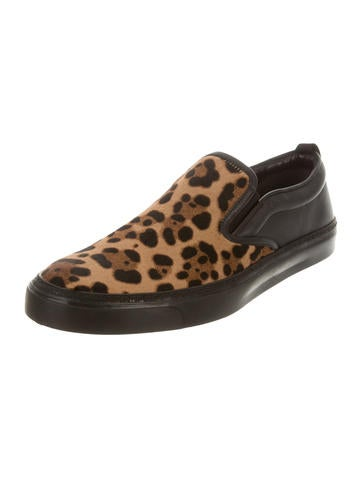Gucci Ponyhair Leopard Slip On Sneakers W Tags Shoes