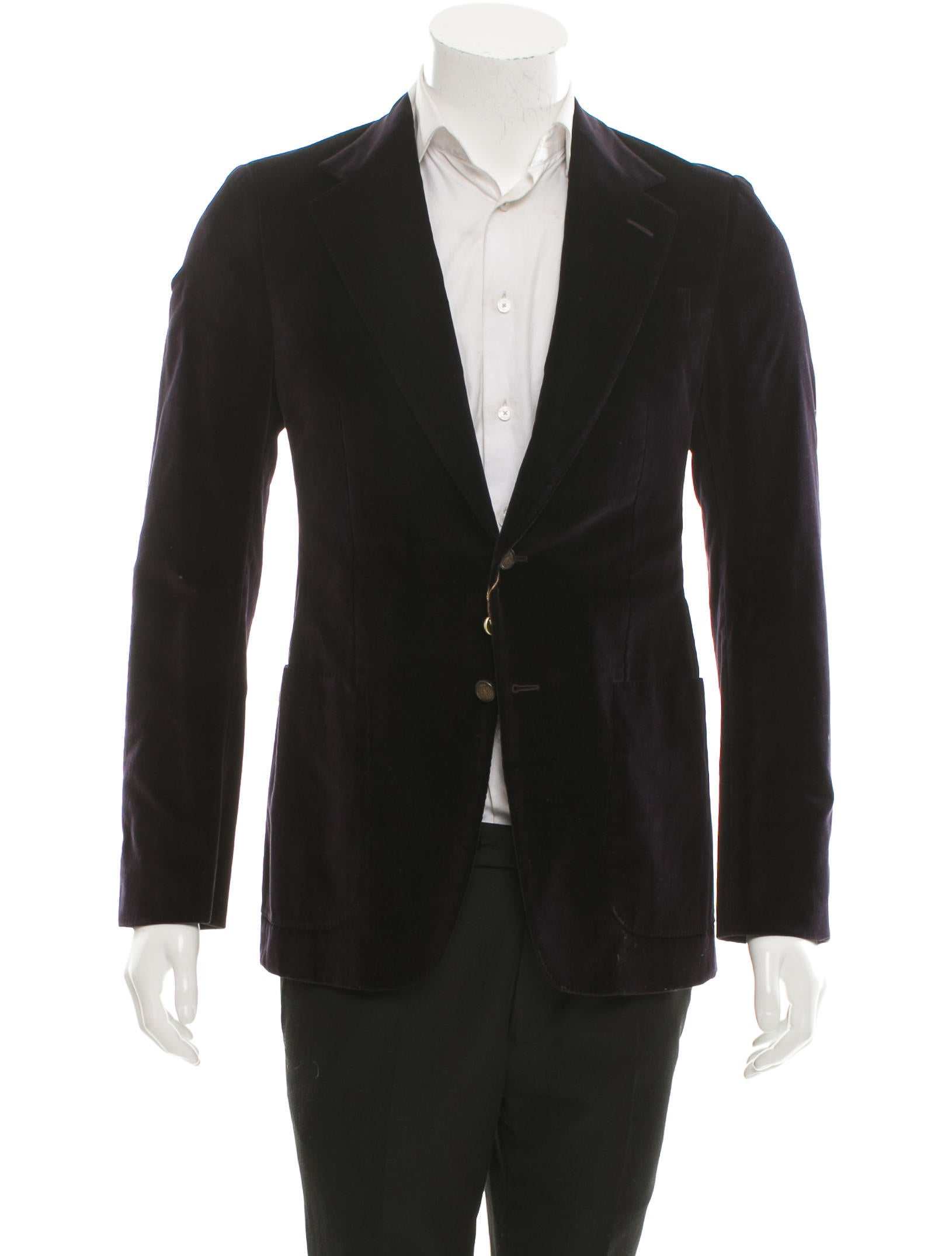 Gucci Velvet Two Button Blazer W Tags Clothing