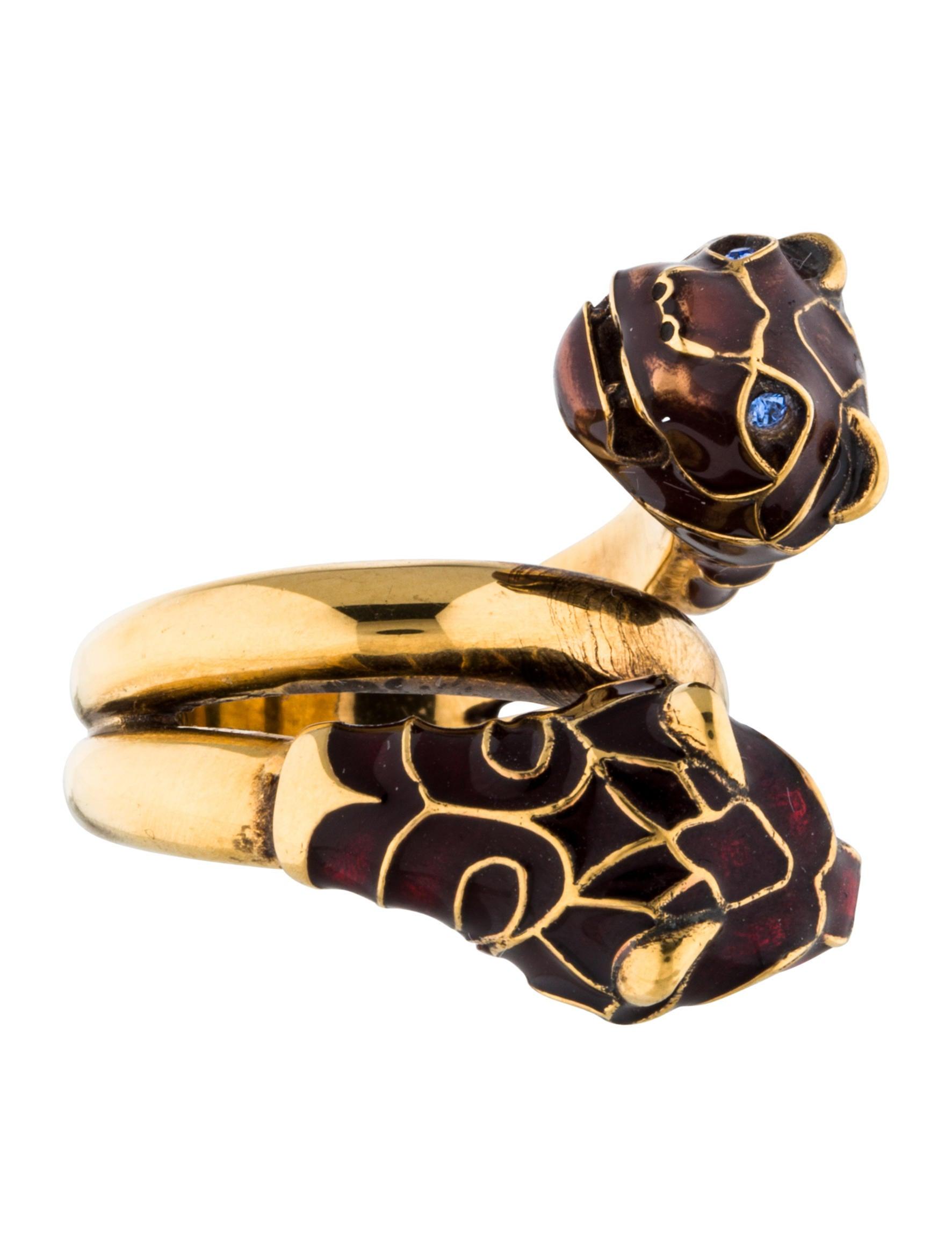 gucci enamel tiger ring rings guc115015 the
