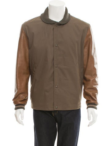 Gucci Leather-Trimmed Varsity Jacket None