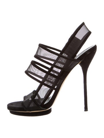 Mesh Cage Sandals