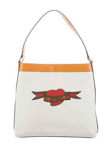 GG Plus Tattoo Shoulder Bag