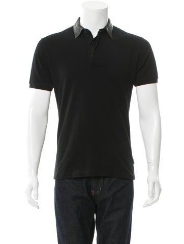 Gucci Rib Knit-Trimmed Polo Shirt None