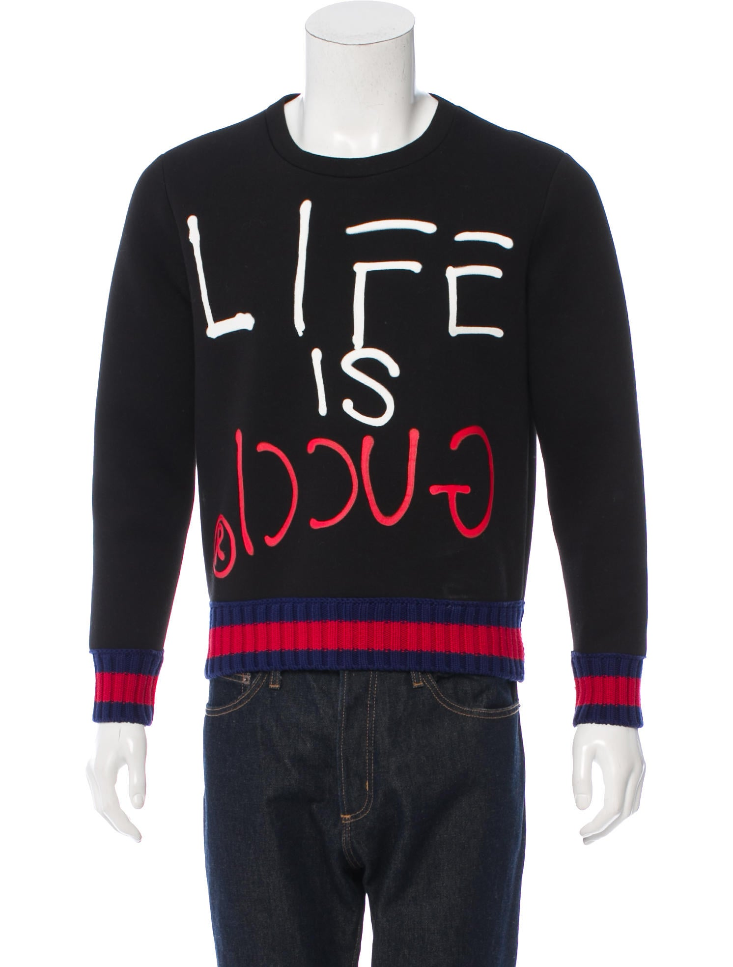 Gucci Life Is Gucci Ghost Sweatshirt Clothing GUC
