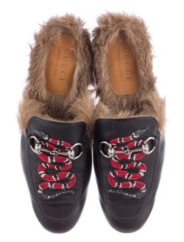 2016 Fur-Lined Princetown Mules